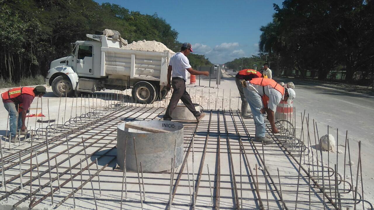 Retoman obra en carretera costera Campeche-Mérida