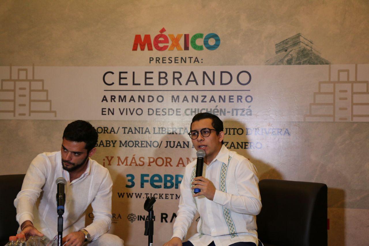Concierto de Manzanero en Chichén Itzá, con aval de INAH
