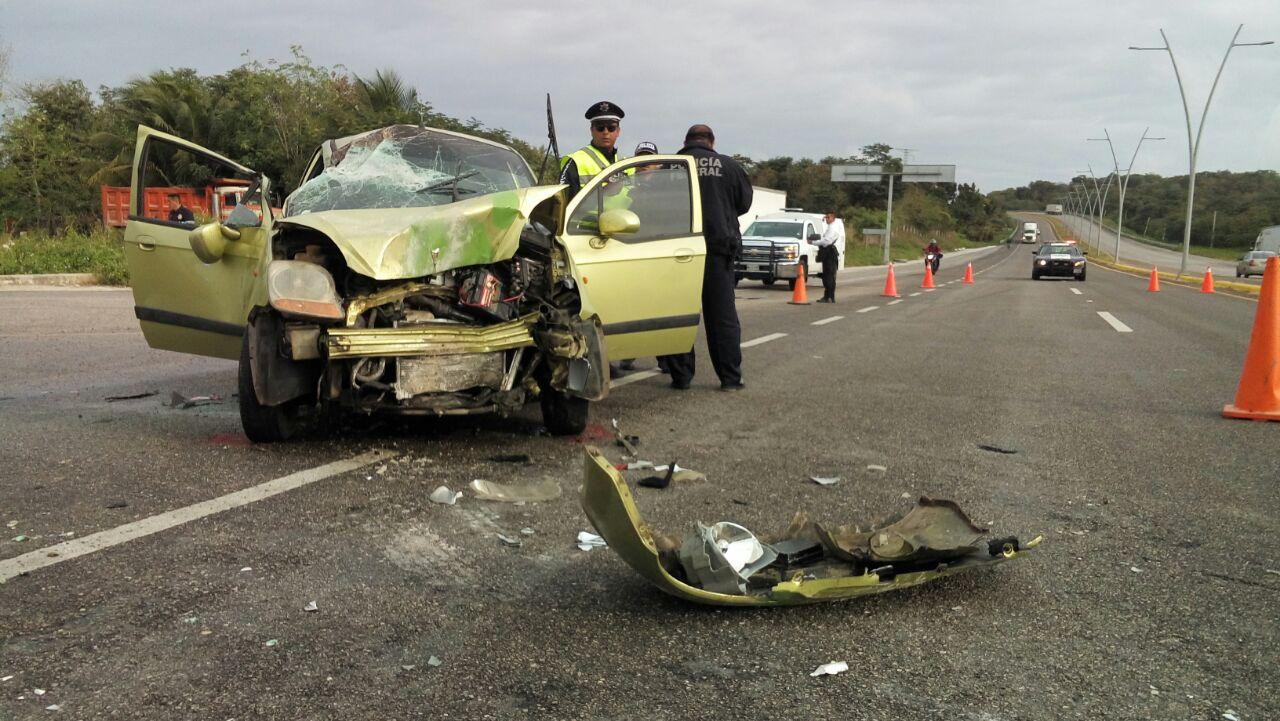 Accidente de policías en periférico de Campeche