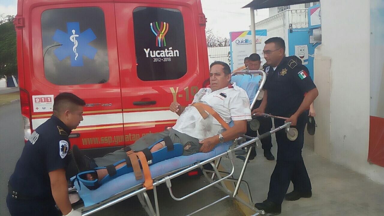 Embestido por camión urbano al auxiliar a discapacitada