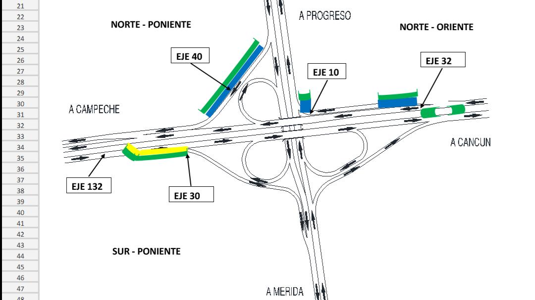 Restringidas vialidades en zona de distribuidor vial hacia Progreso