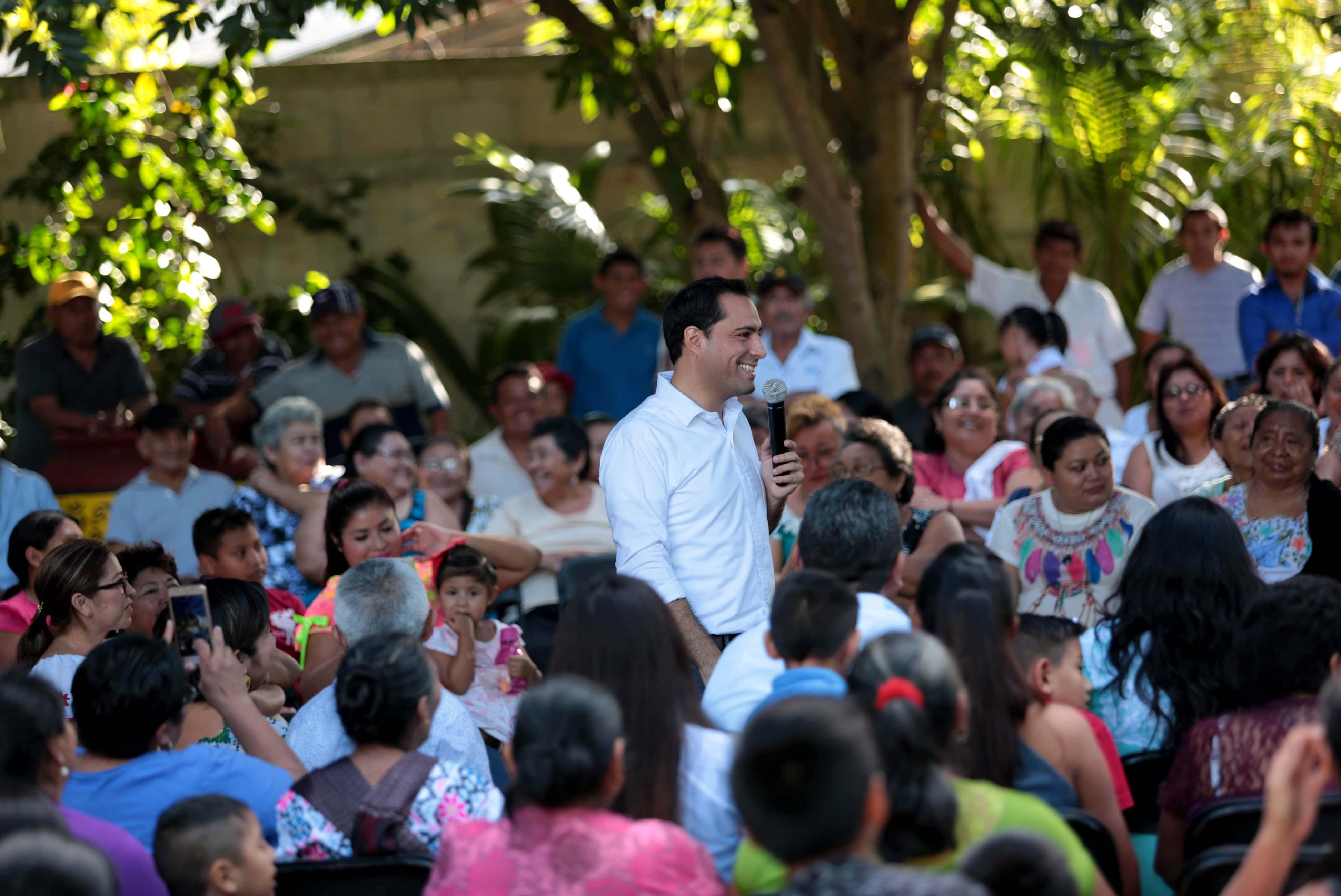 Multiplican apoyo ciudadano a Vila en Baca, Yobaín, Telchac Pueblo y Dzemul