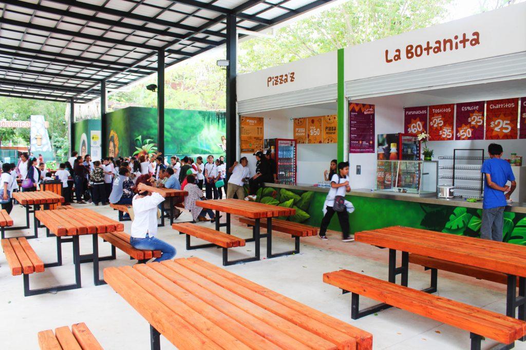 area de comidas centenario merida zoologico 2018