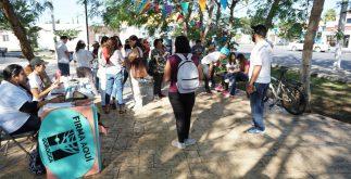 brigadas recolección firmas aspirante adrián gorocica candidato diputado independiente yucatan