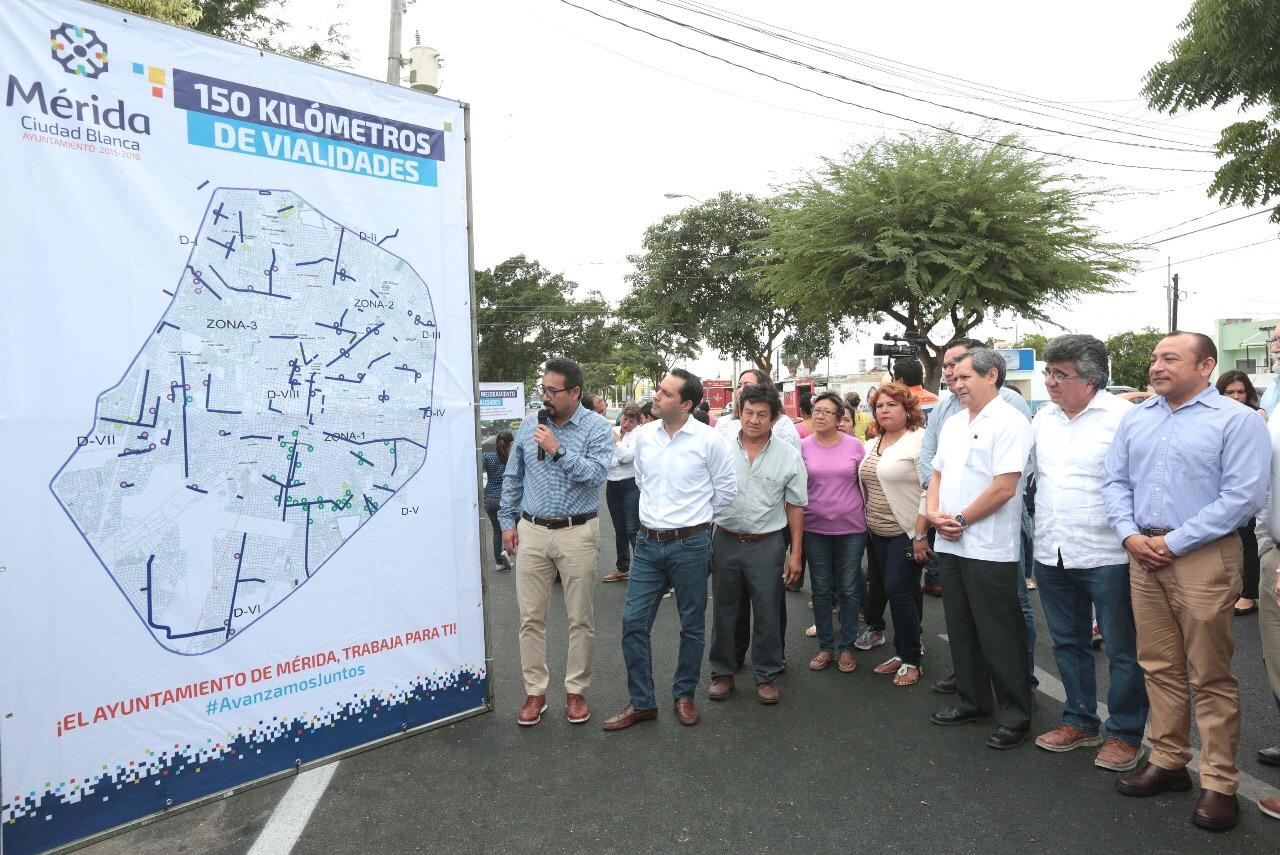 Mérida cumple meta de 150 kms de calles rehabilitadas