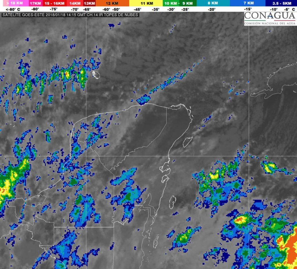 mapa satelite clima frio yucatan conagua