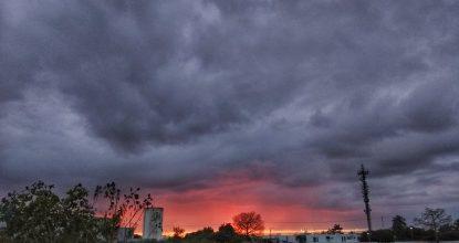 nublado merida atardecer sol contexto menos calor radiacion