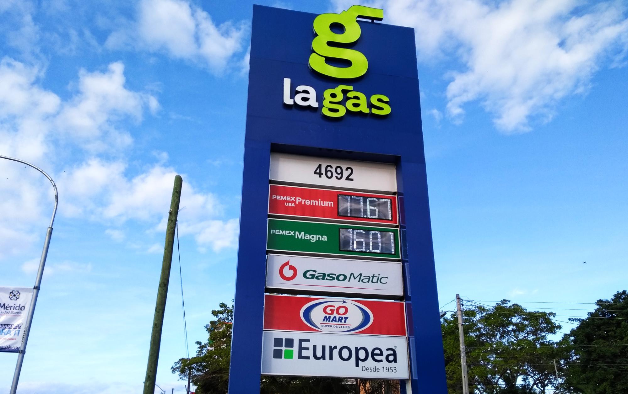 Precios de gasolina en Mérida, por los cielos: Magna <i>brinca</i> los $16 por litro