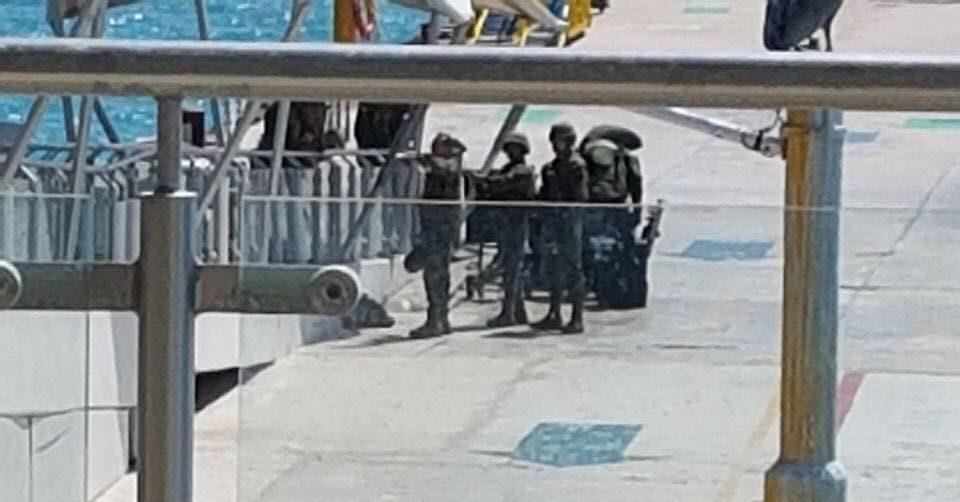 Reportan movilización en muelle de Playa del Carmen