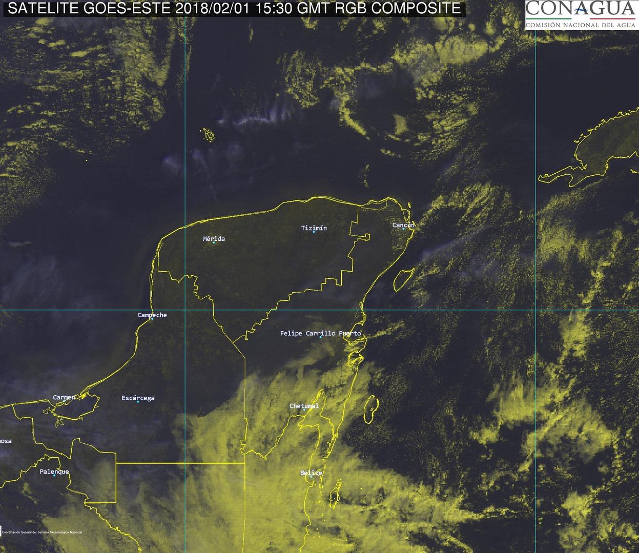El sur de Yucatán hasta con 6 grados