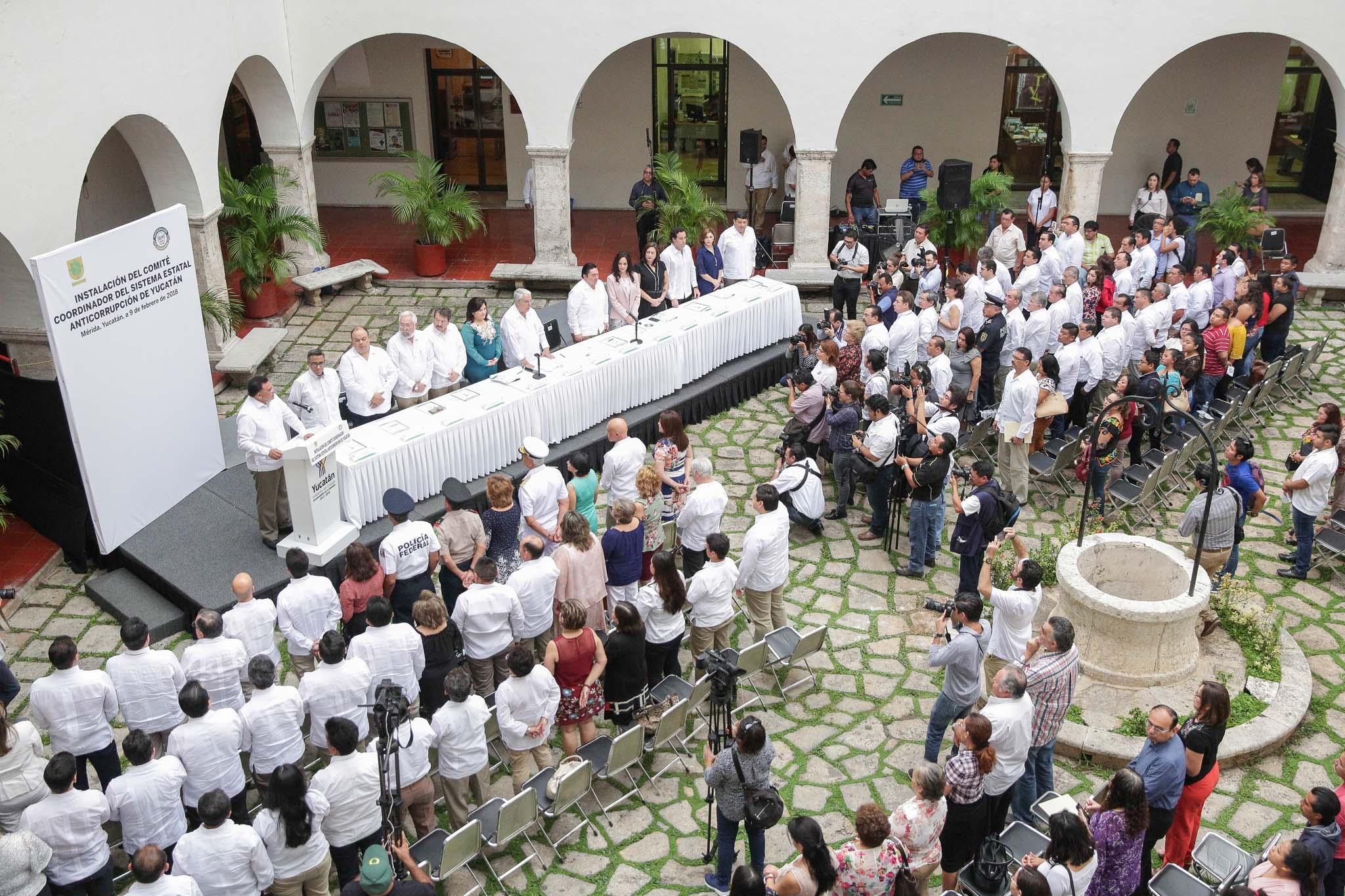 Instalado Comité Coordinador de Sistema Estatal Anticorrupción en Yucatán