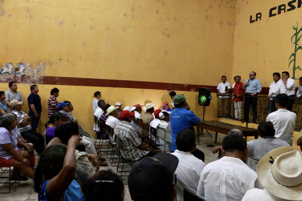 Participa Ramírez Marín en reunión informativa con ejidatarios