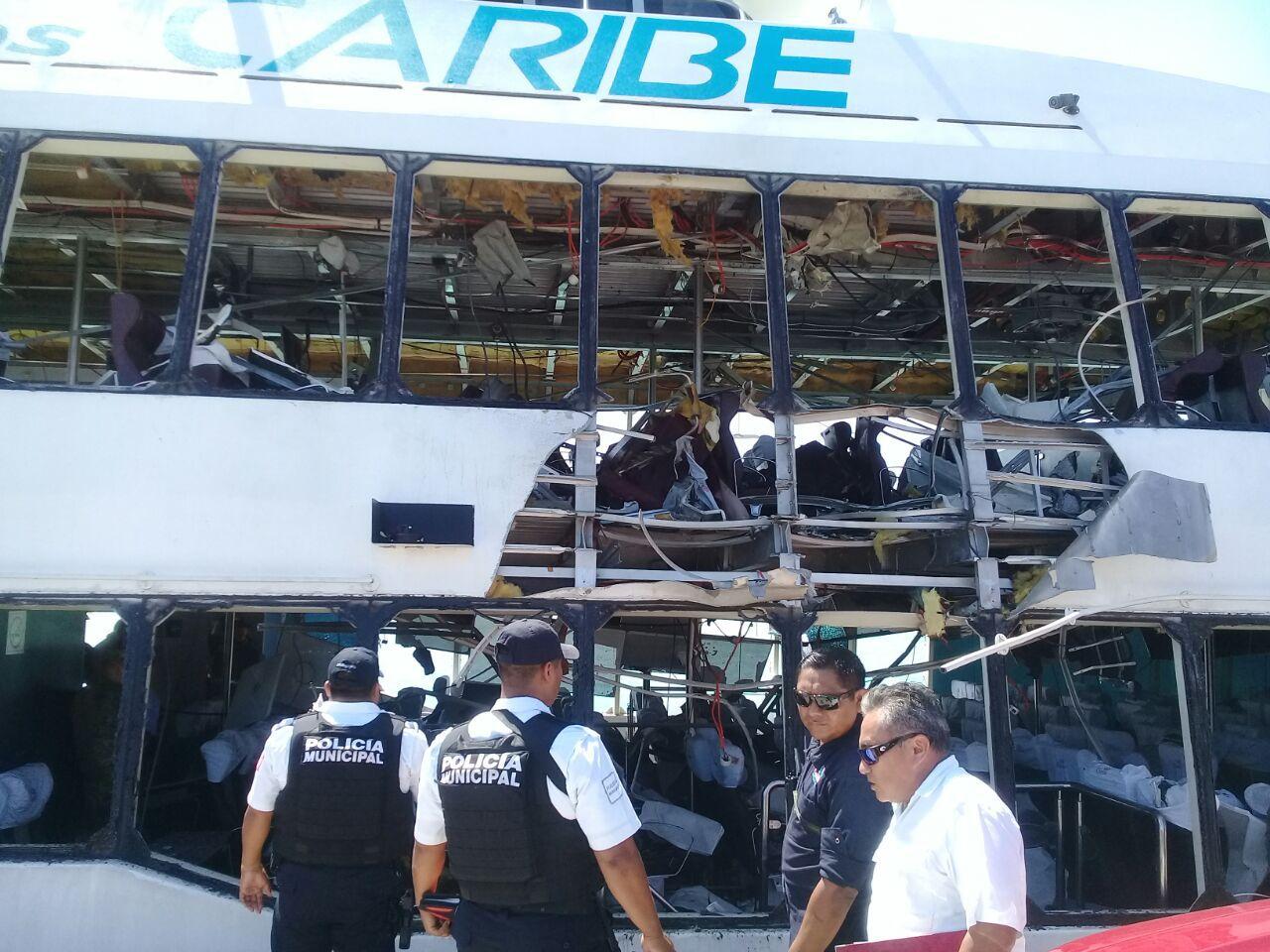 Mira los daños que dejó la explosión de ferry en Playa del Carmen (vídeo)