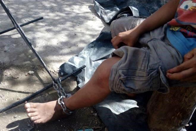 Rescatados niños encadenados en Cancún