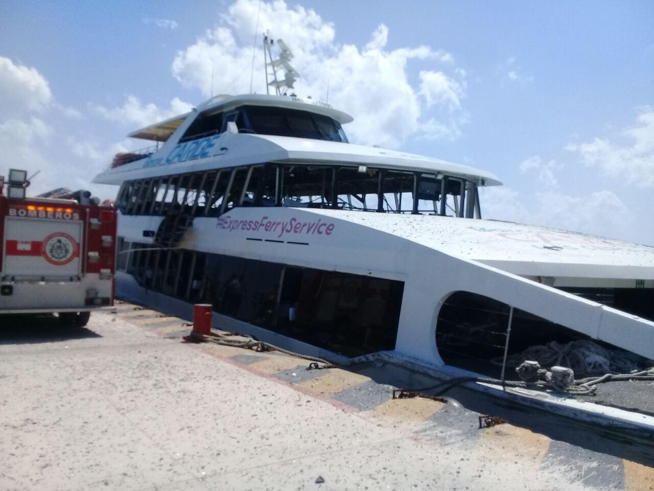 Supuesto cártel se adjudica explosión de ferry en Playa del Carmen