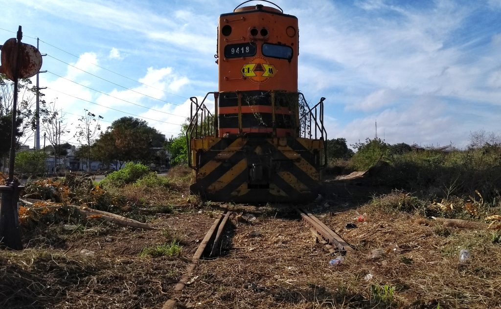 Locomotora ferrocarril de carga en Mérida yucatan