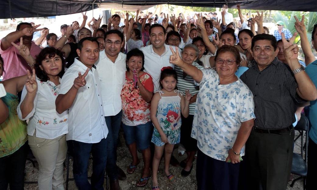 Respaldan a Vila Dosal en Chicxulub Pueblo, Ixil, Telchac Puerto y Sinanché