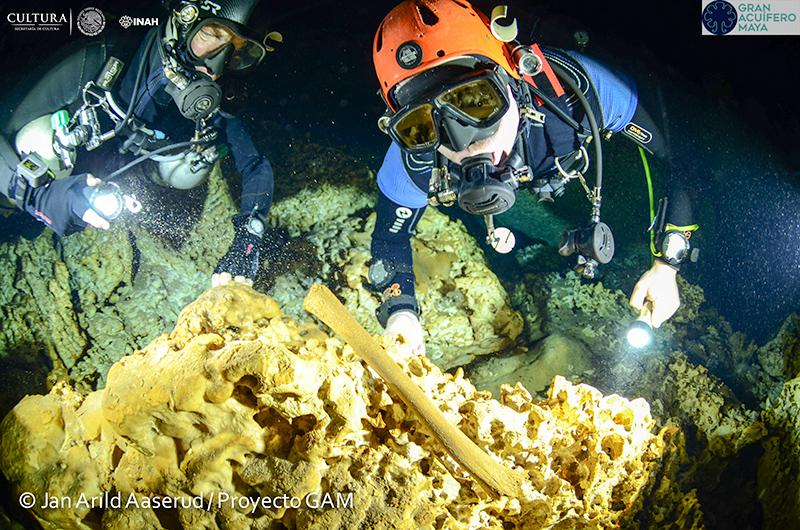 Las expediciones subacuáticas en Sac Actún empezaron en 2004. (Foto. INAH)