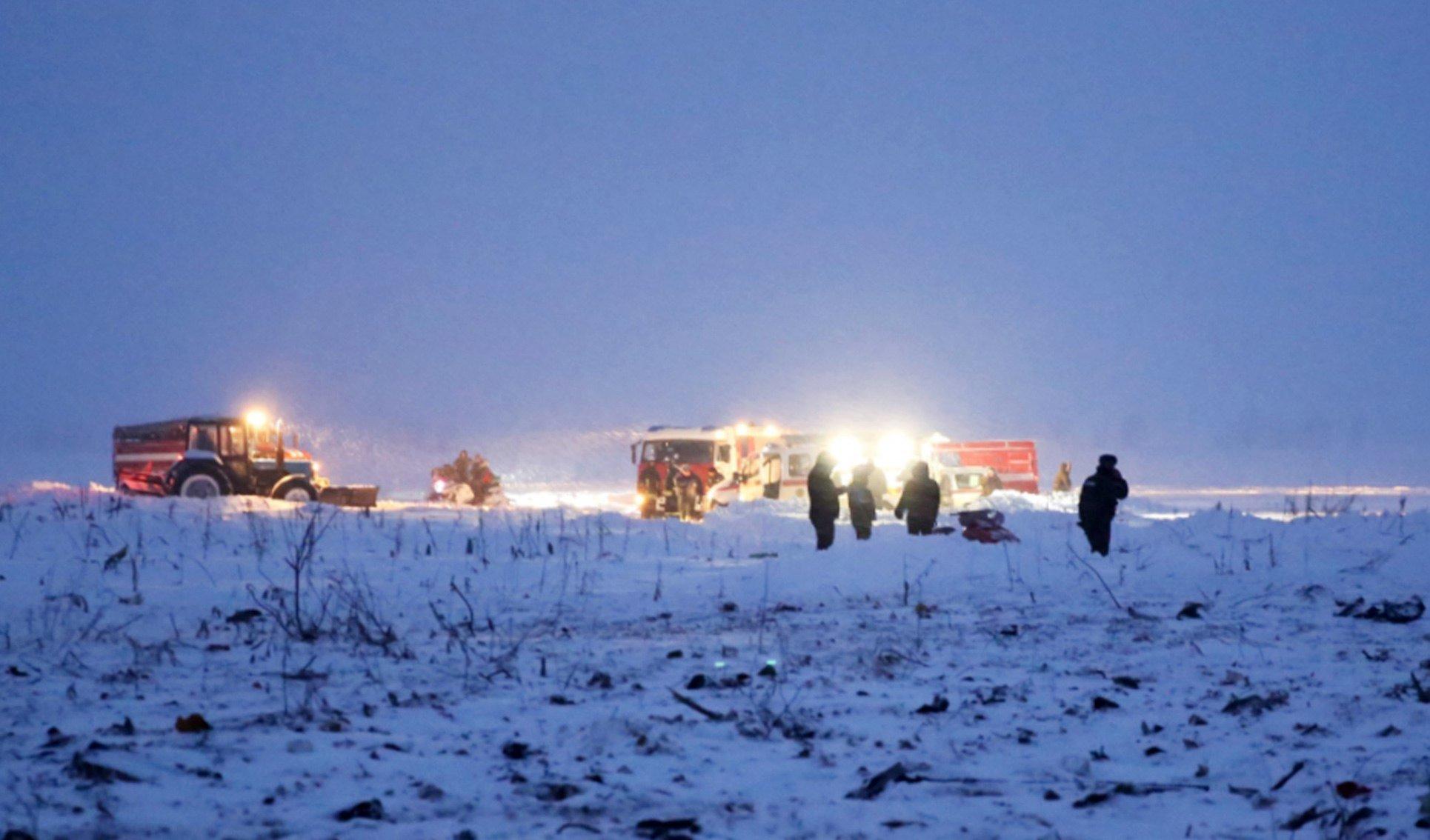 Mueren los 71 pasajeros de avión que se estrelló en Rusia, confirman autoridades