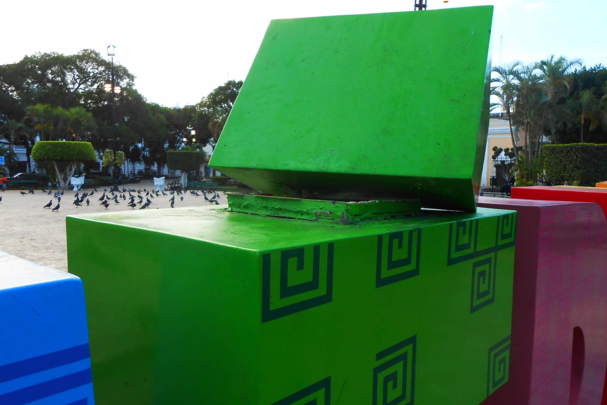 Así dañaron el parador fotográfico para <i>selfies</i>, en Mérida (video)