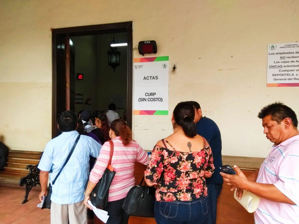 fila actas de nacimiento registro civil merida
