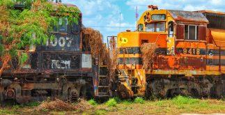 locomotoras viejas en la plancha merída yucatán