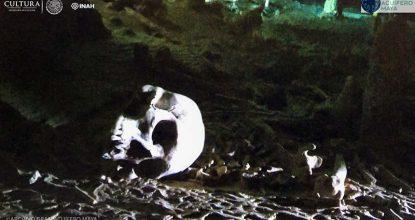 Los restos humanos que datan de 10,000 años fueron hallados en la cueva Sac-Actún, en Quintana Roo. (Foto: INAH)