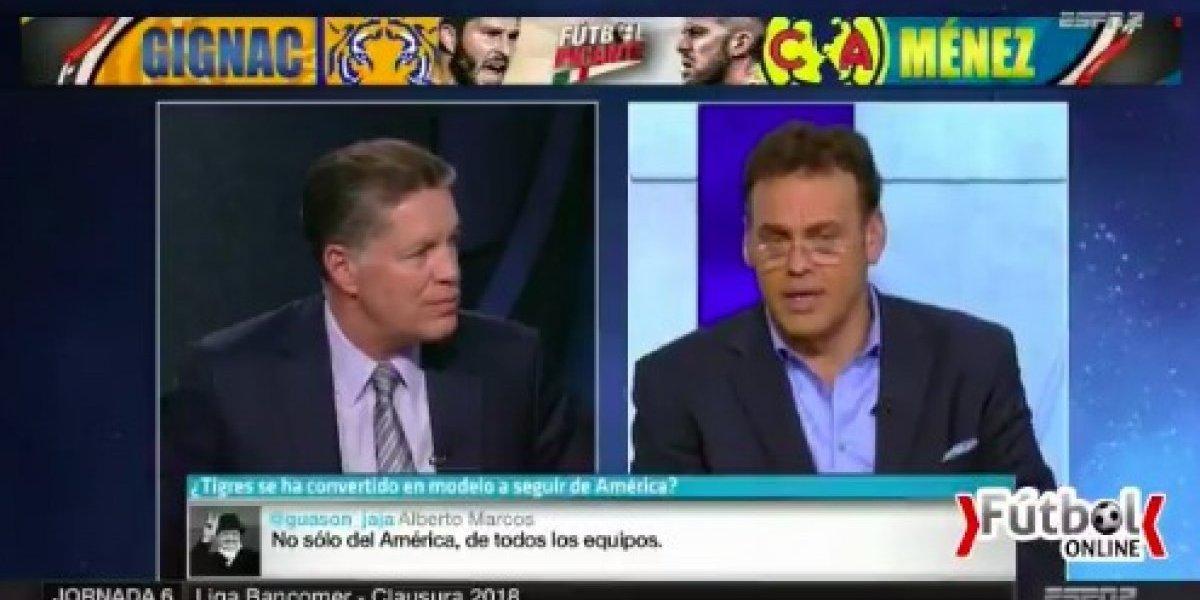Ricardo Peláez llama estúpido a David Faitelson en programa en vivo