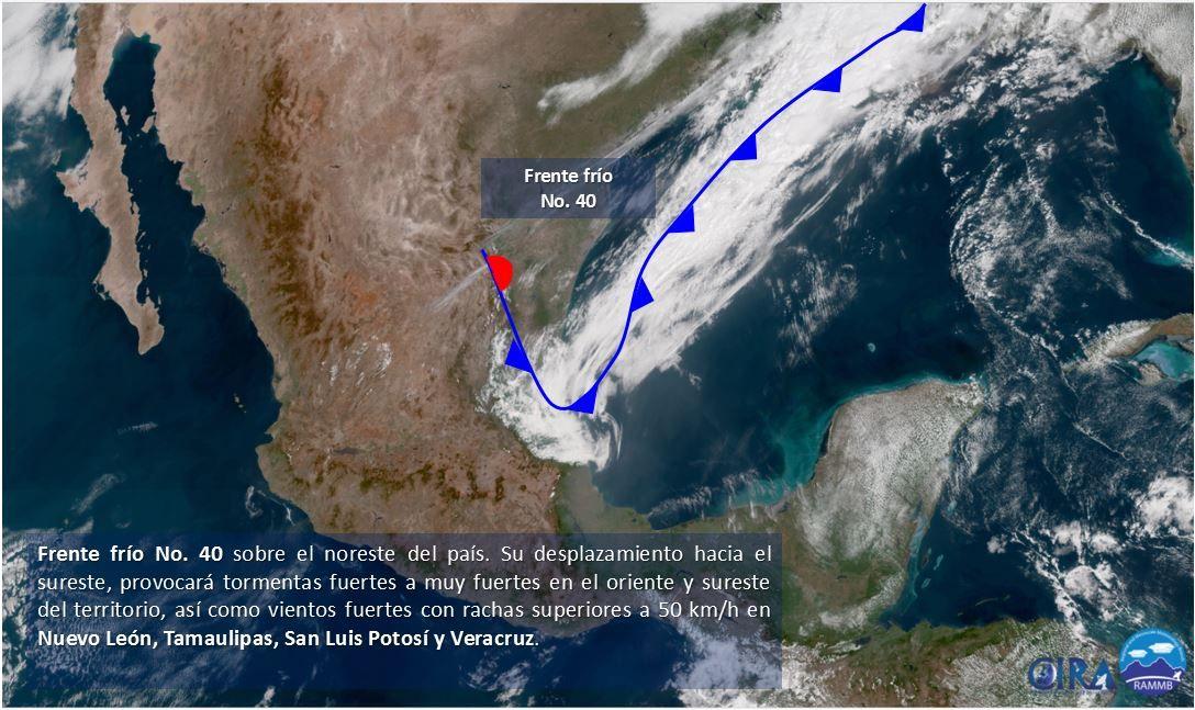 Soplo de Frente Frío aliviará calor en Península de Yucatán
