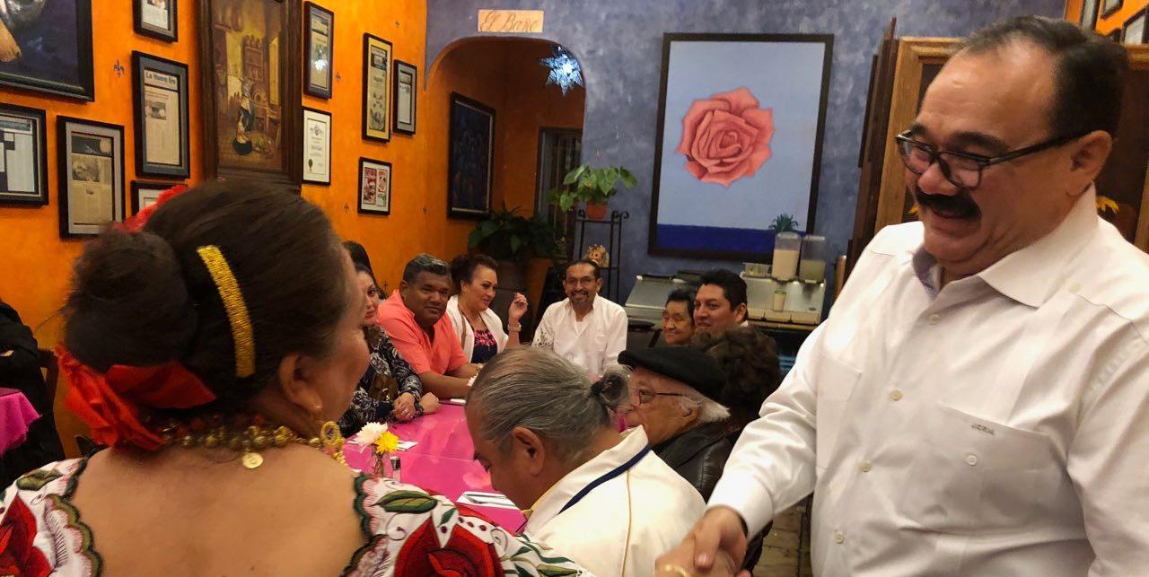 Ramírez Marín dialoga con líderes de organizaciones civiles en California