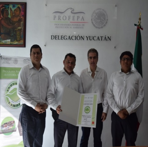 Certificados de Profepa a Bepensa, Barcel y Aeropuerto Mérida