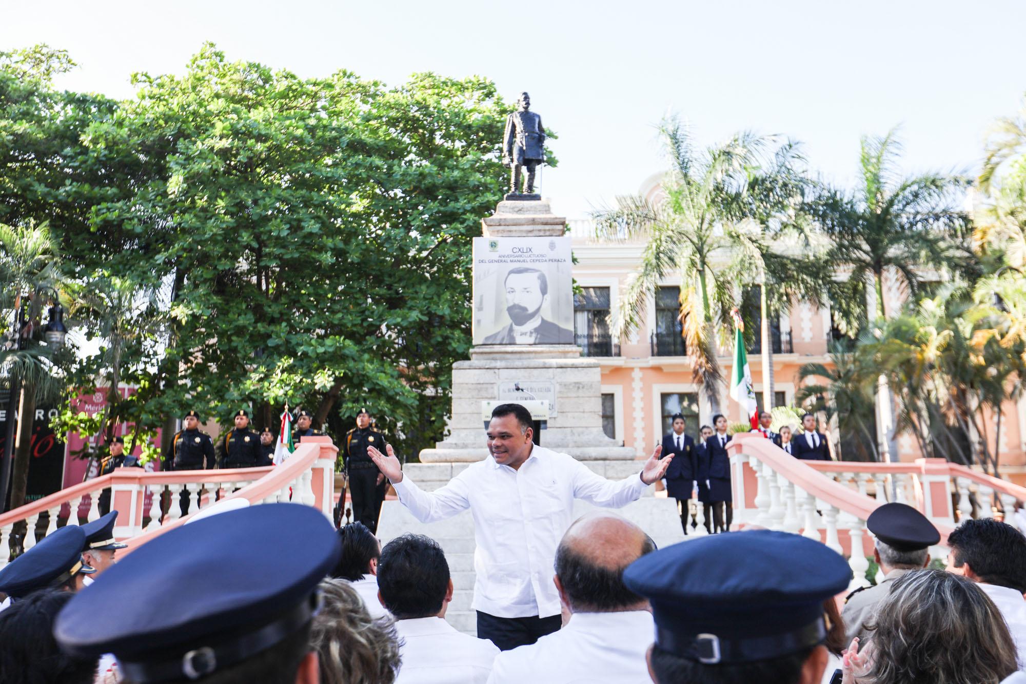 Conmemoran 149 aniversario luctuoso del general Manuel Cepeda Peraza