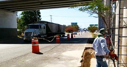 """Este sábado 10 de marzo se cierran la salida directa a Progreso y la """"subida"""" del puente en el carril interior del periférico de Mérida."""