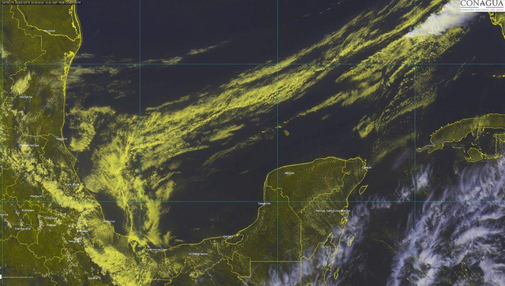 Mapa de llegada del frente frío 35 a Península de Yucatán. (Foto: Conagua)
