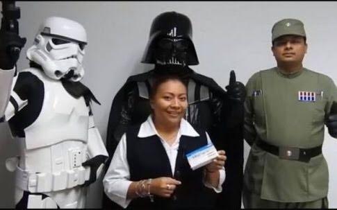 Darth Vader promueve en Campeche uso del condón; campaña contra VIH-Sida (video)