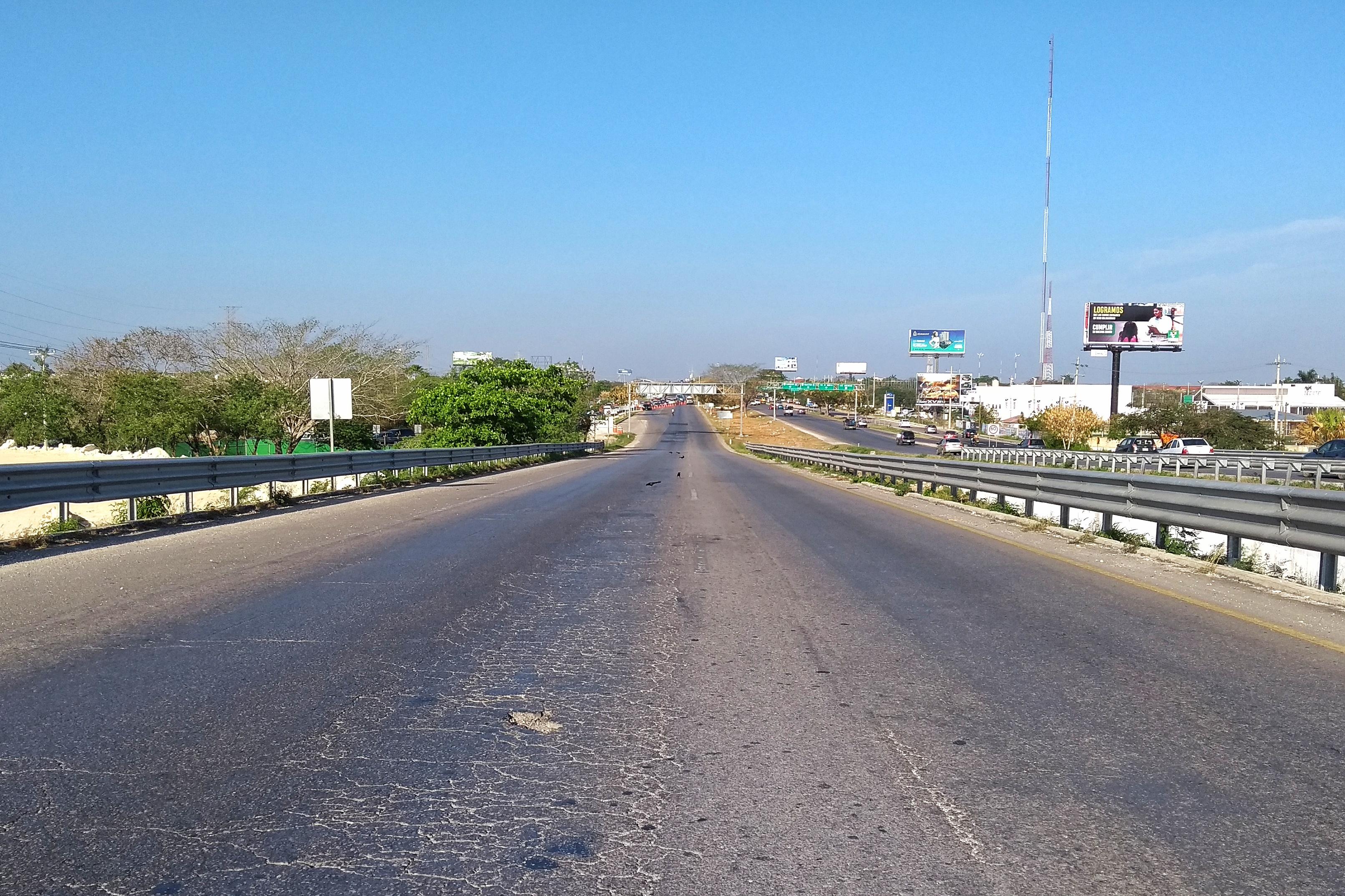 puente cerrado periferico de mérida carretera a progreso