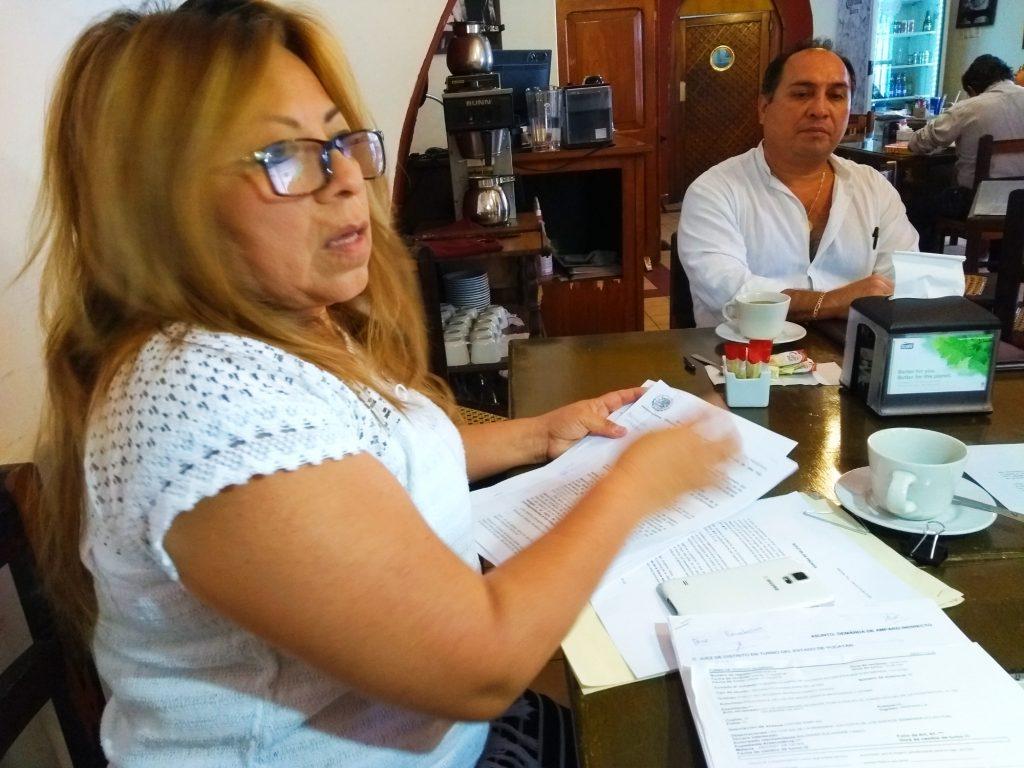 Sisely Burgos, una de las representantes de los ciudadanos que interpusieron una amparo en Yucatán, contra la Ley de Seguridad Interior.