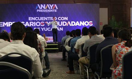 Anaya 'le endulza' el oído a empresarios de Yucatán: acabará con ambulantaje (video)