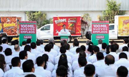 Cien mil nuevos empleos para los próximos 6 años: Sahuí