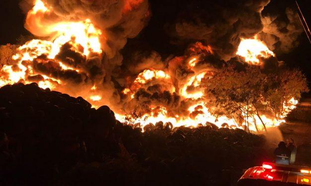 Calor y fuego en Cancún: incendio en ex basurero