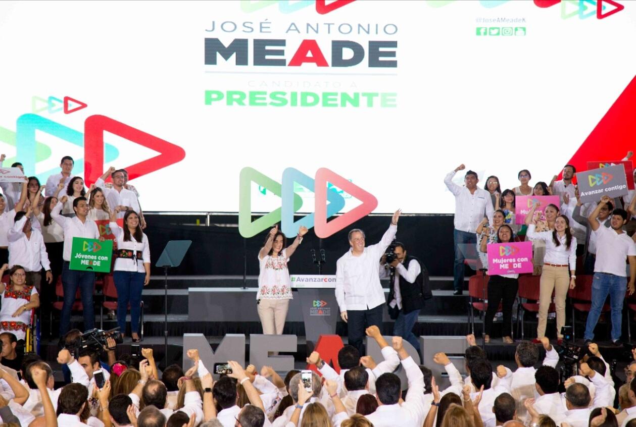 Sin imagen del PRI, Meade inició campaña en Yucatán