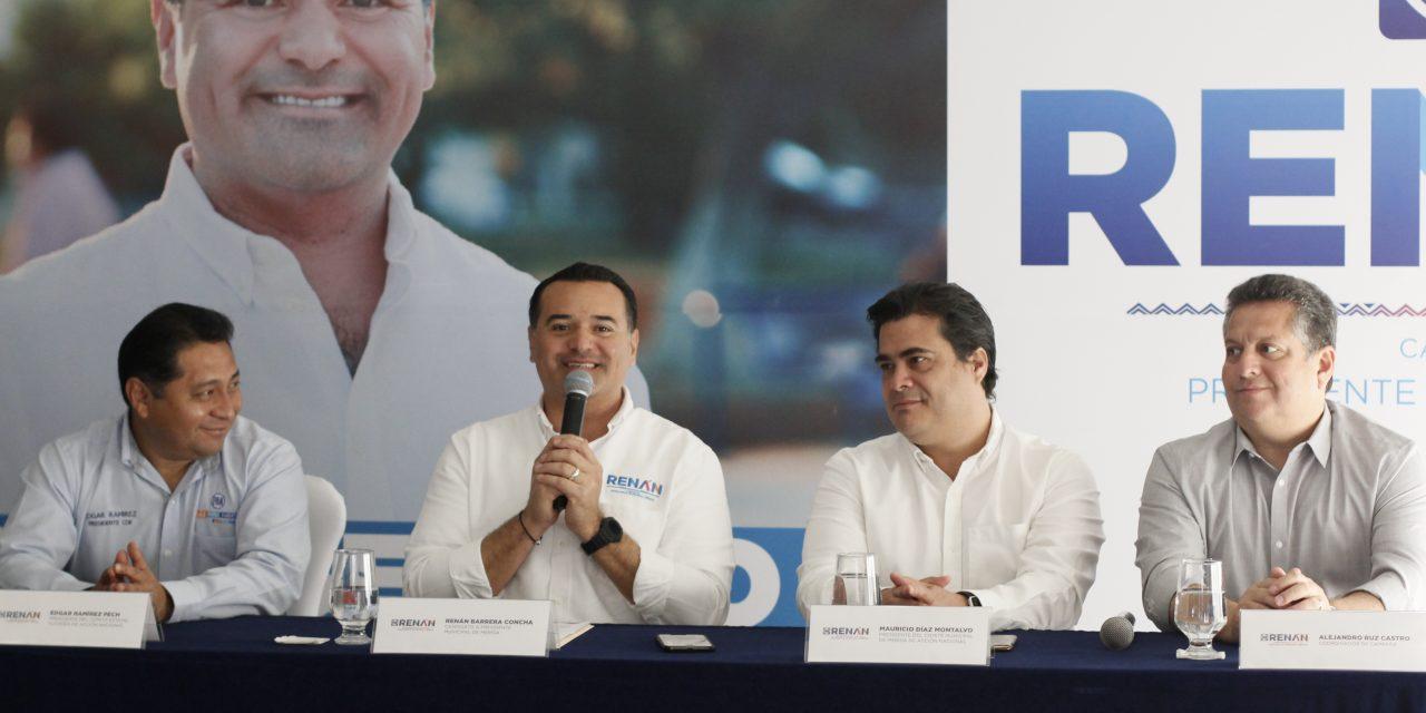 Renán Barrera firma acuerdo histórico para la ciudad de Mérida