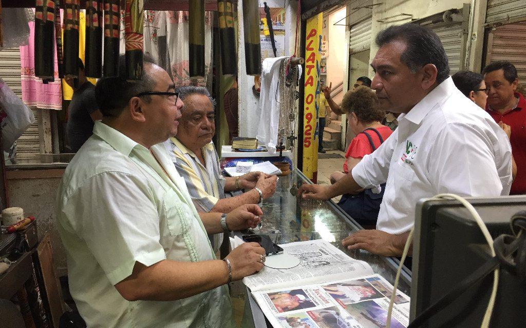 Rescatar el mercado San Benito será prioridad: Víctor Caballero Durán