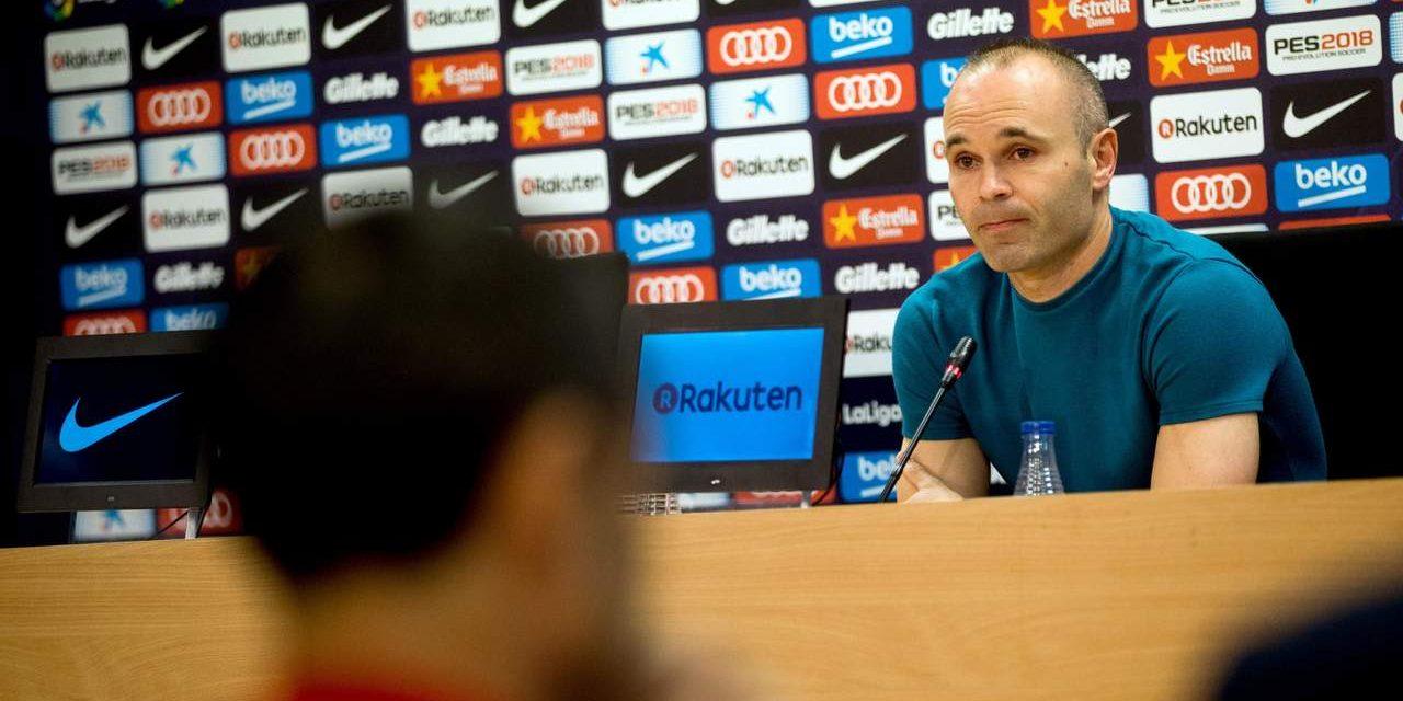 Iniesta anuncia que dejará el Barcelona al final de la temporada