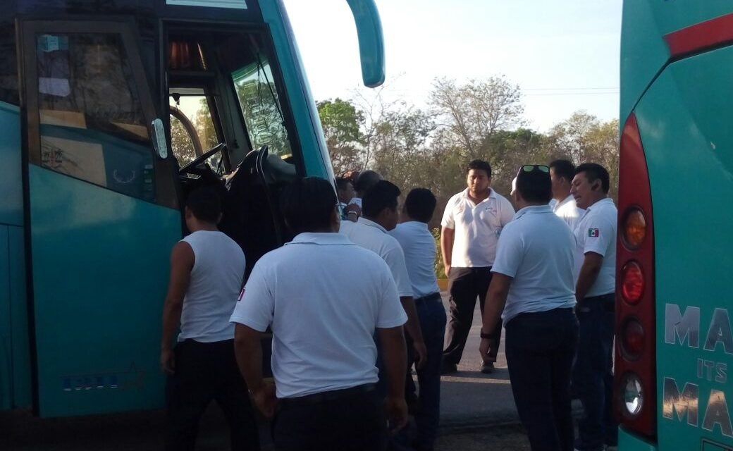 Paro de transportistas de Amotac ahorca tránsito en carretera Mérida-Campeche