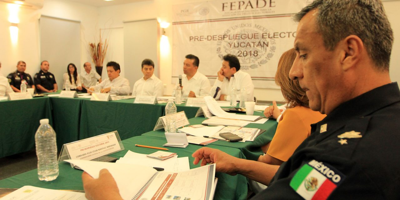 Afinan coordinación en Yucatán contra delitos electorales