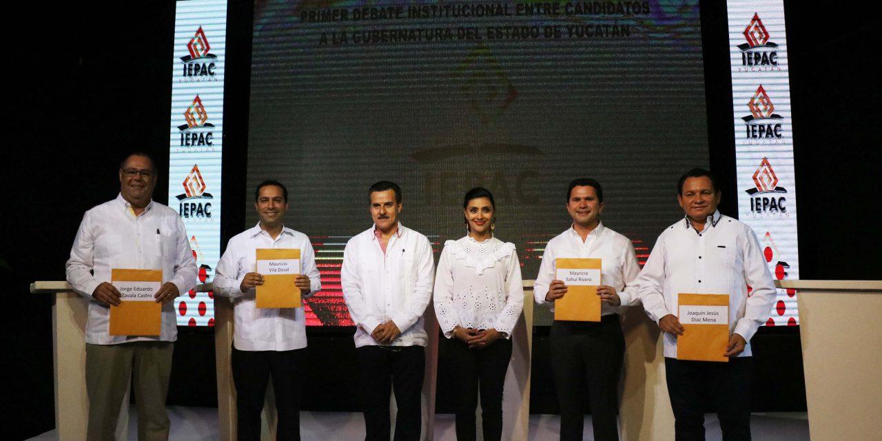 Debate en Yucatán: Se sienten ganadores los cuatro