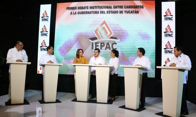Los 10 aspectos imperdibles del debate de candidatos a gobernador de Yucatán (videos)
