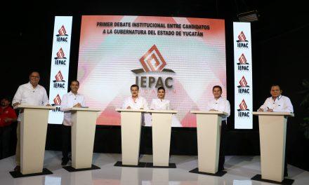 Estas fueron las conclusiones de los candidatos a la Gubernatura de Yucatán