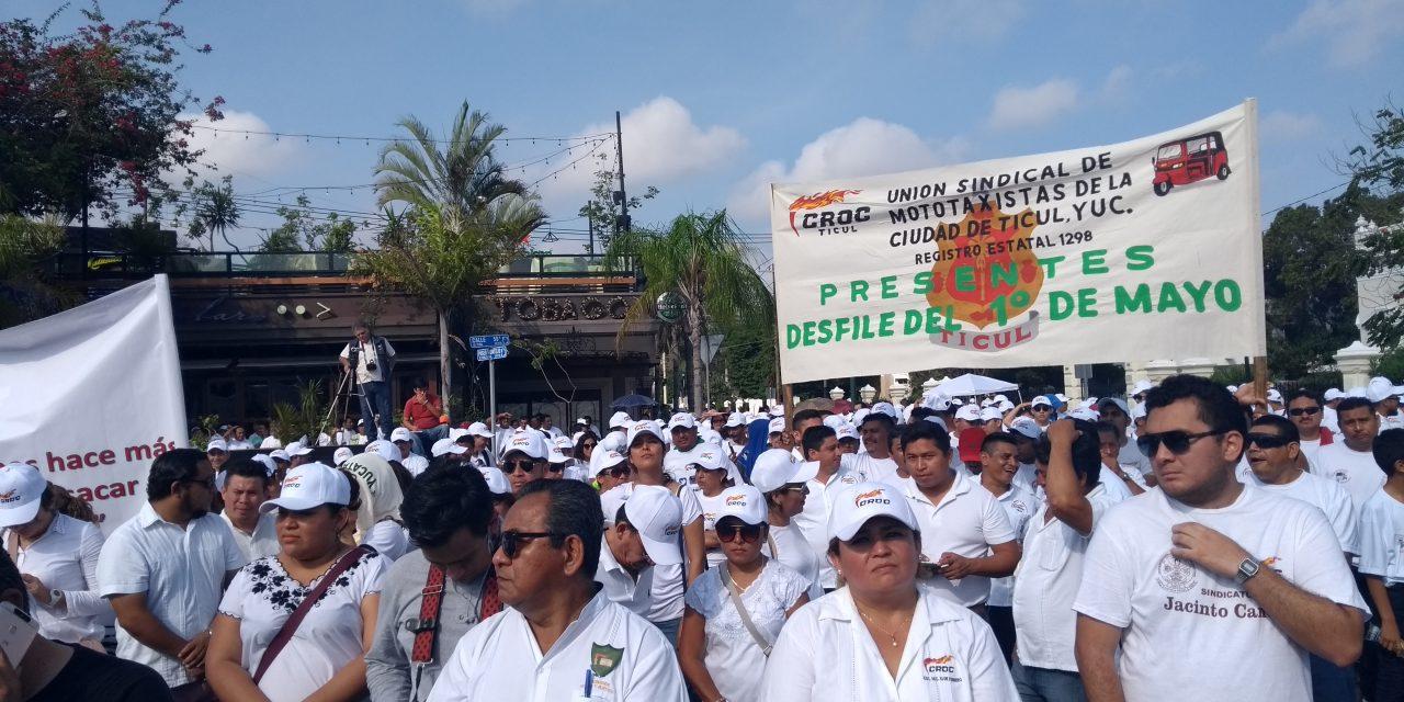 Crónica: En Marcha del 1 de Mayo en Mérida ganan trabajadores… ambulantes (videos)